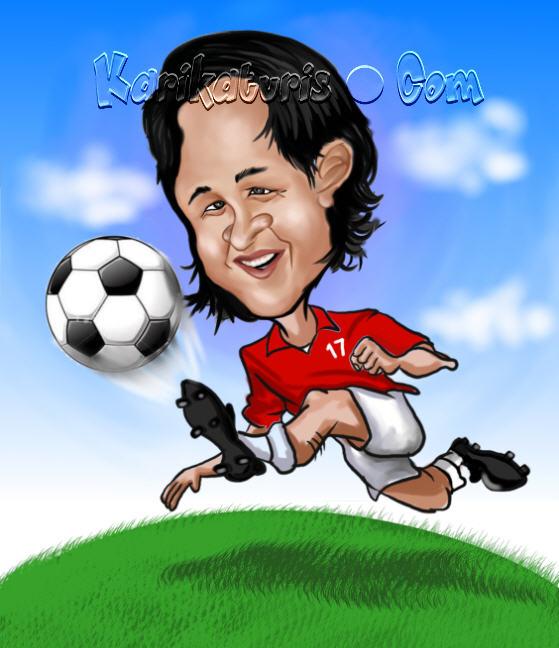 Karikatur Irfan Bachdim Sosok Idola Baru Sepak Bola Indonesia
