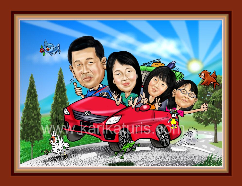 Unduh 85  Gambar Animasi Keluarga Naik Mobil HD Paling Keren